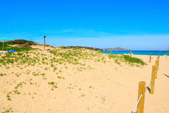 Beach entrance in Porto Pollo Stock Images