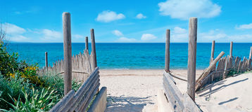 Beach entrance Royalty Free Stock Photos