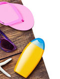 Beach equipment and accessories Royalty Free Stock Photography