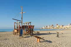 Beach equipment, Alicante Royalty Free Stock Photo