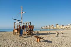 Beach equipment, Alicante royalty free stock photo
