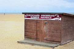 Beach equipment rental shed Royalty Free Stock Images