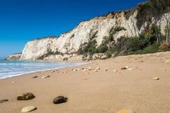 Beach of Eraclea Minoa. In Sicily Italy Royalty Free Stock Photos