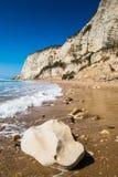 Beach of Eraclea Minoa. In Sicily Italy Royalty Free Stock Photography