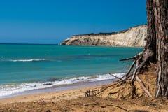 Beach of Eraclea Minoa. In Sicily Italy Royalty Free Stock Image