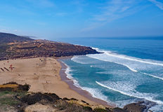 Beach, Ericeira, Portugal Royalty Free Stock Photos