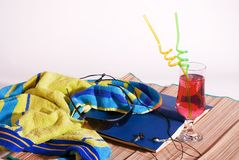 Beach essentials Stock Images