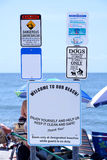 Beach Etiquette and Safety Sign Stock Image