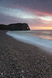 Beach of Etretat Stock Photography