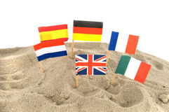 Beach in Europe Royalty Free Stock Images