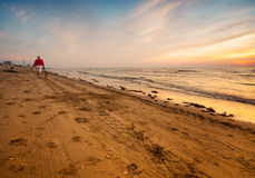 Beach in the evening Royalty Free Stock Photos