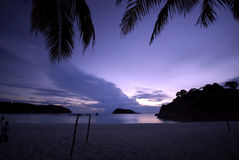 Beach at the evening Royalty Free Stock Image