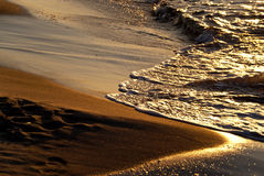 Beach in the evening Royalty Free Stock Photo