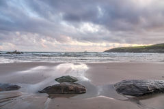 Beach in evening light Royalty Free Stock Image