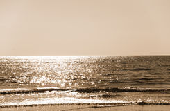 Beach in evening sepia Stock Photography