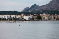 The beach with the evening-time in Alcudia Royalty Free Stock Photography