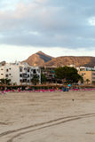 The beach with the evening-time in Alcudia Royalty Free Stock Image