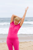 Beach exercise Stock Images