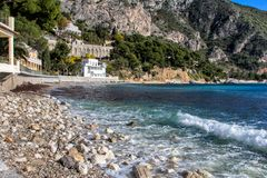 Beach of Eze sur mer in south france Stock Photography