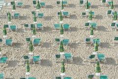 Beach facilities Stock Images