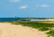 Beach and Factory. The Beach and Factory of thailand Stock Photography