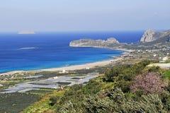 Beach of falasarna stock photo