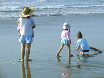 Beach Family Royalty Free Stock Image