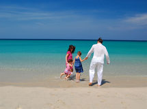 Beach family fun Stock Photography