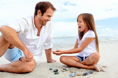 Beach family fun Royalty Free Stock Photography