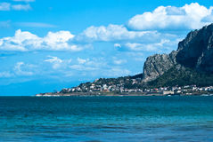 Beach of. The famous beach of Mondello in Palermo, Sicily Stock Images