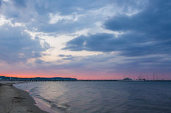 Beach. Famous pier area, taken in Sopot, Poland Royalty Free Stock Images