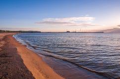 Beach. Famous pier area, taken in Sopot, Poland Stock Photography