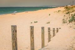 Beach of Faro, Algarve, Portugal Royalty Free Stock Image