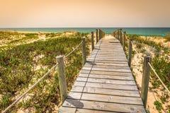 Beach of Faro, Algarve, Portugal Royalty Free Stock Photography