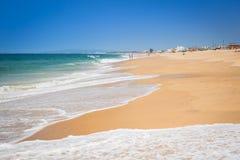Beach of Faro, Algarve, Portugal Stock Photos