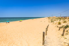 Beach of Faro, Algarve, Portugal Royalty Free Stock Images