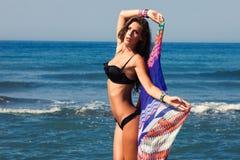 Beach fashion girl Royalty Free Stock Photo