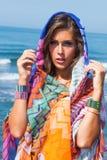 Beach fashion girl Royalty Free Stock Photos