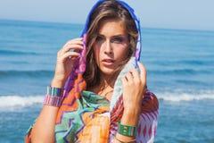 Beach fashion girl Stock Photography