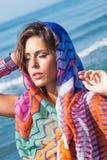 Beach fashion girl Stock Image