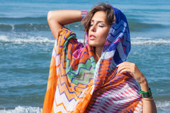 Beach fashion girl Royalty Free Stock Images