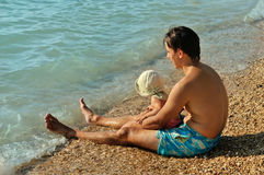 On the beach Stock Image
