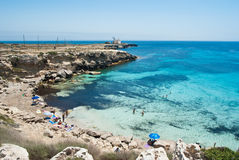 Beach of favignana. aegadian island Stock Images