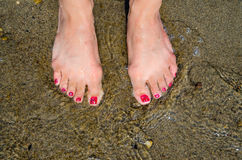 Beach Feet Royalty Free Stock Images