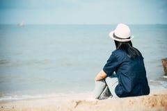 Beach, Female, Hat Royalty Free Stock Photo