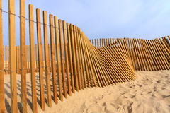 Beach fence. A wooden beach fence by the seaside Royalty Free Stock Image