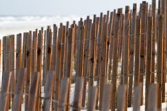 Beach Fence Royalty Free Stock Photo