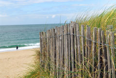 Beach fence Stock Photo