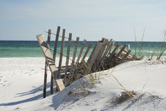 Beach Fence. Near Pensacola Beach, Florida Royalty Free Stock Photo