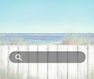 Beach Fence Relaxing Scenics Sea Concept Stock Photos